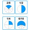 Empareja fracciones equivalentes I