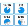Empareja fracciones equivalentes III