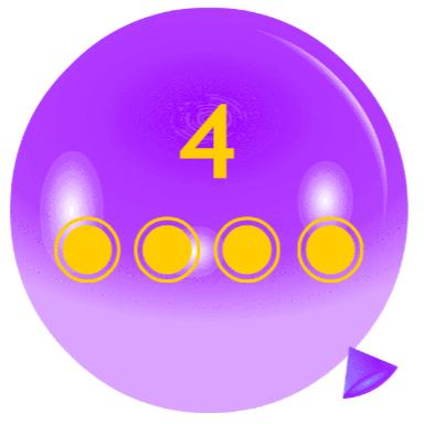 Pincha globos - Contar unidades