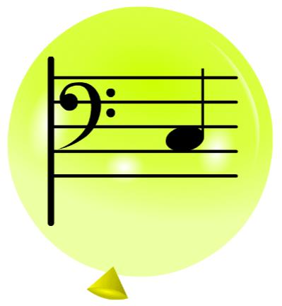 Pincha globos - Notas - Clave de Fa