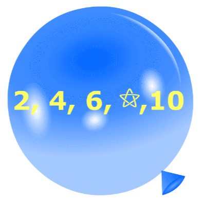 Pincha globos - Secuencias numéricas 2